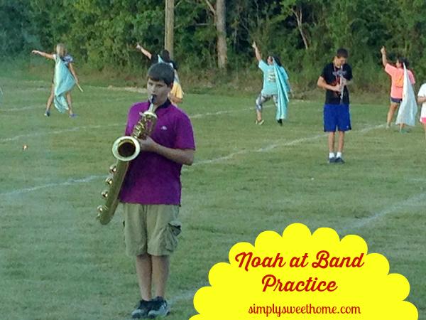Noah at Band Practice