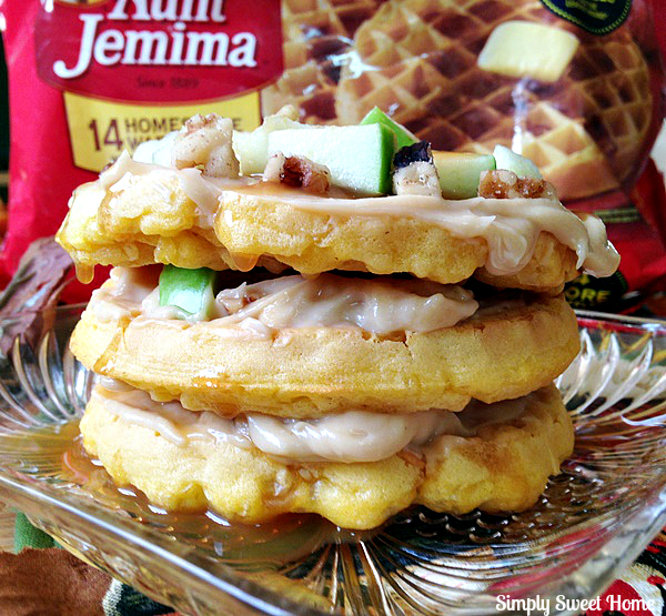 Caramel Apple Waffles