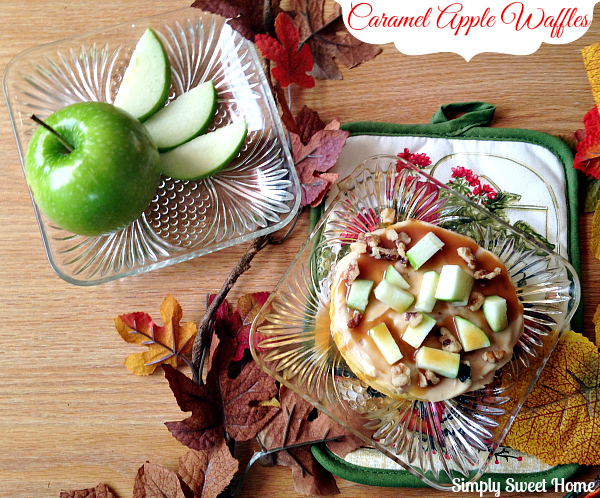 Caramel Apple Waffles Hero