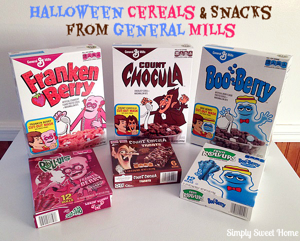 Halloween Cereals & Snacks from General Mills - Simply Sweet Home