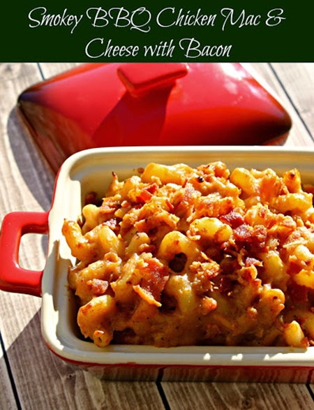 Smokey BBQ Chicken Mac and Cheese with Bacon