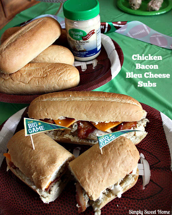 Chicken Bacon Bleu Cheese Subs