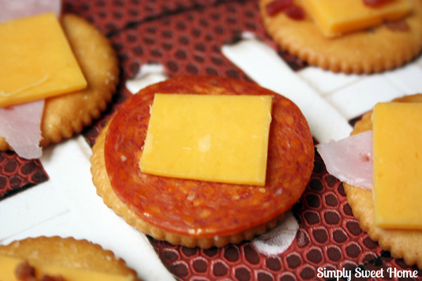 Pepperoni Topped Crackers