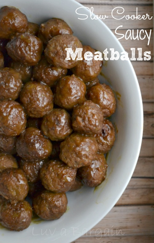 Slow Cooker Saucy Meatballs