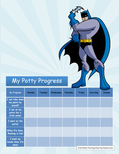 Batman Potty Training Chart