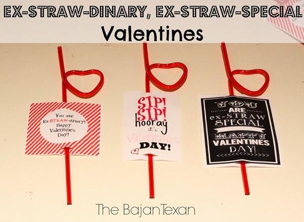 Valentine Straws