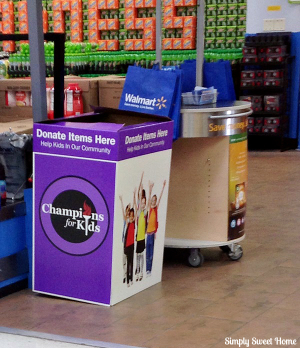 Champions for Kids Donation Box