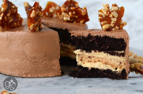 Chocolate and Peanut Cake
