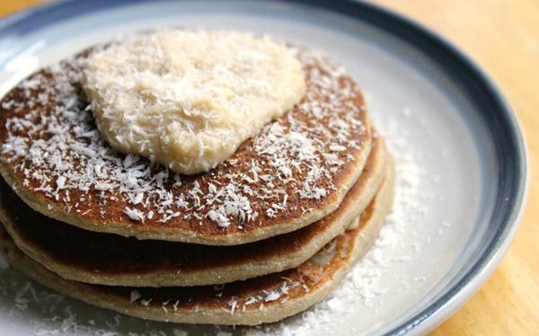 Fruity Banana Coconut Pancakes