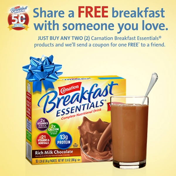 Share a Free Breakfast Coupon