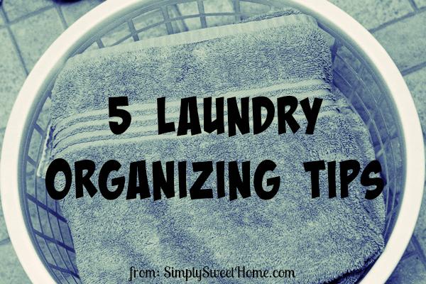 5 Laundry Organizing Tips