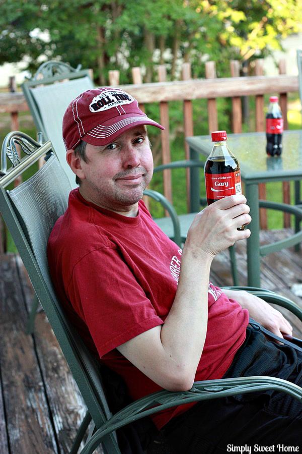 Gary with Coke