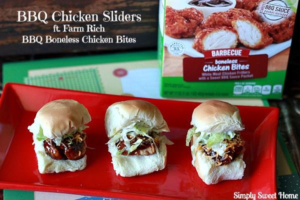 BBQ Chicken Sliders with Farm Rich