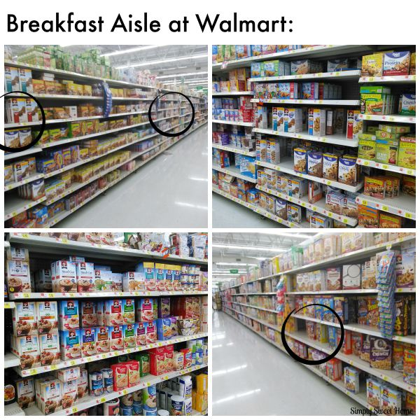 Breakfast Aisle at Walmart