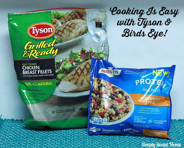 Easy cooking with Tyson and Birds Eye