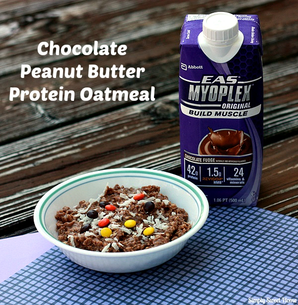 Chocolate Peanut Butter Protein Oatmeal