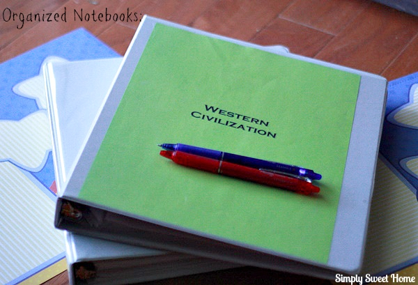 Organized Notebooks