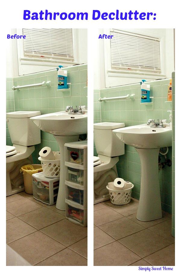Bathroom Declutter