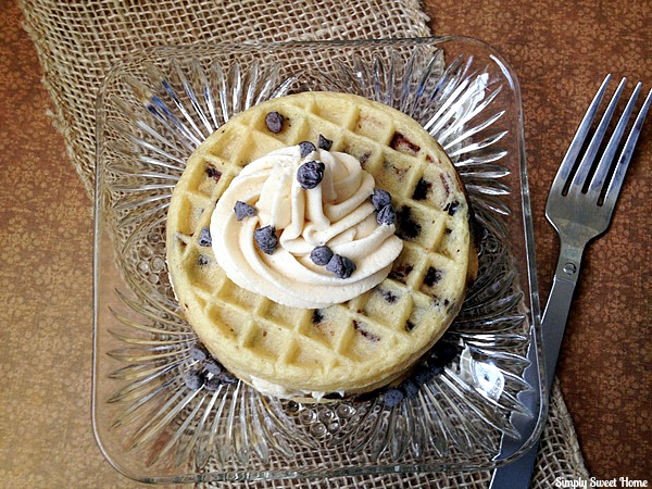 Chocolate Chip Cookie Dough Waffle