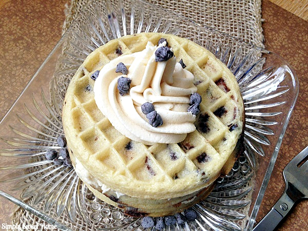 Chocolate Chip Waffle with Cookie Dough Frosting