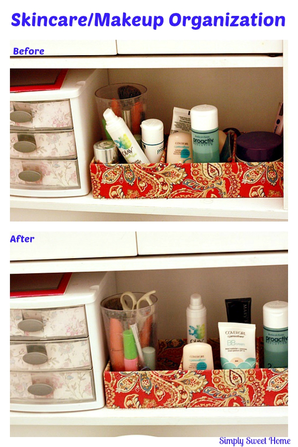 Skincare Makeup Organization