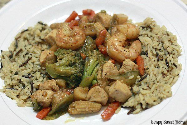 Chicken & Shrimp Stir Fry
