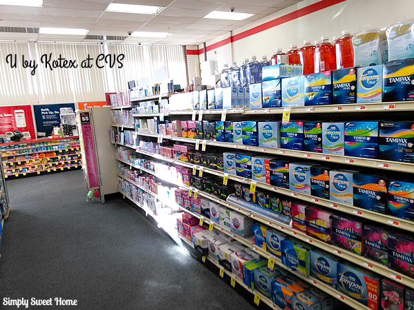 Feminine Hygiene Aisle at CVS