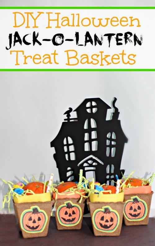 Jack-o-Lantern Trick Or Treat Baskets