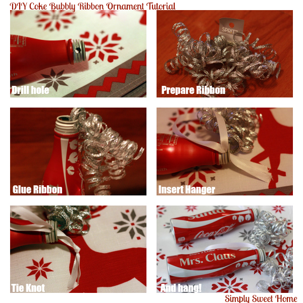 DIY Coke Bubbly Ribbon Ornament Tutorial