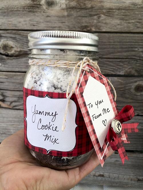 Pretty Plaid Jar Gift