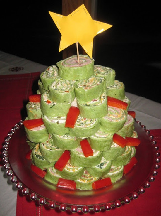 Spinach Tortilla Roll-Up Tree