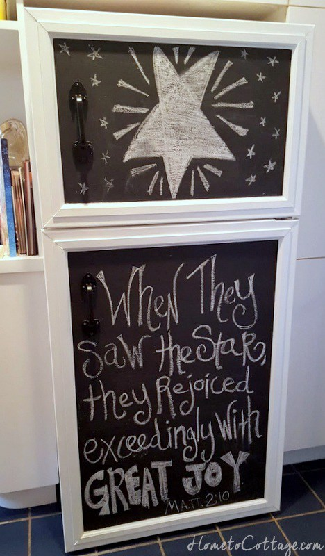 DIY Chalkboard Fridge Cover