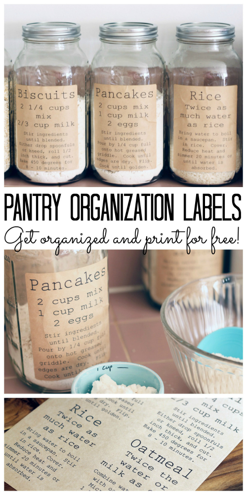 Pantry Organization Labels