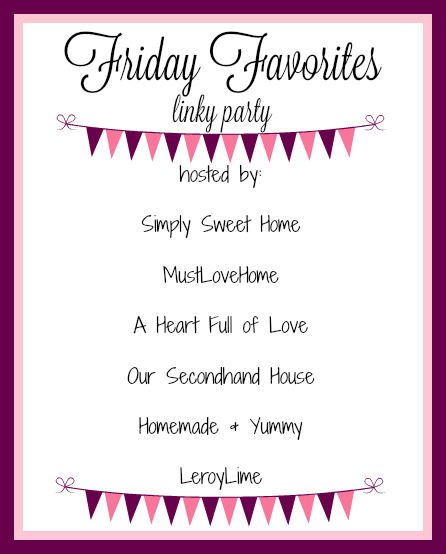Friday Favorites Banner new 2016