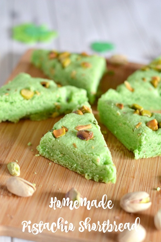Homemade Pistachio Shortbread