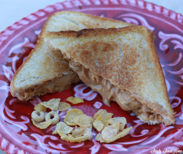 Fried Peanut Butter and Cereal Sandwich