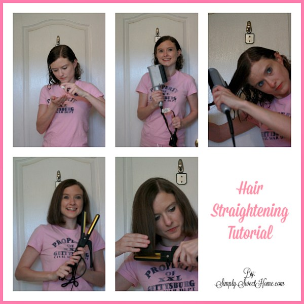 Hair Straightening Tutorial