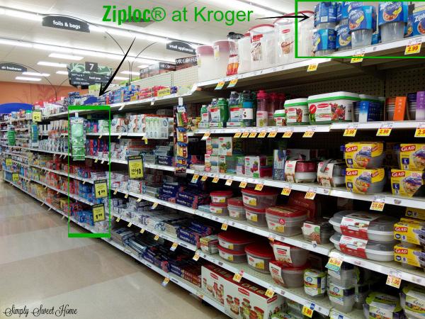 Ziploc at Kroger