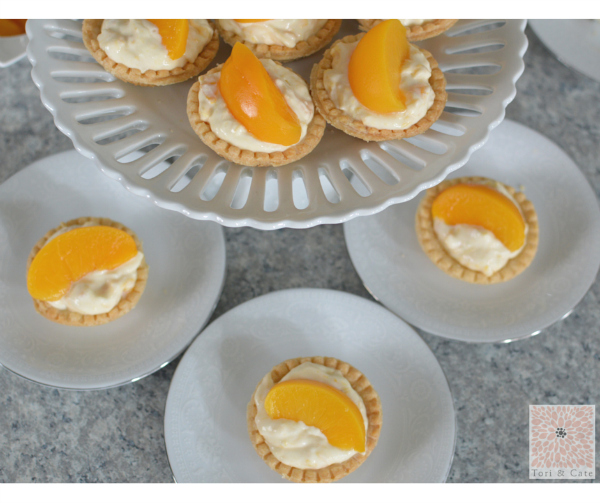 Peaches and Cream Cheese Tarts