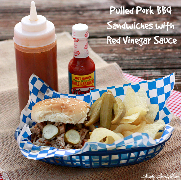 Pulled Pork BBQ Sandwiches with Red Vinegar Sauce + El Yucateco Sweepstakes