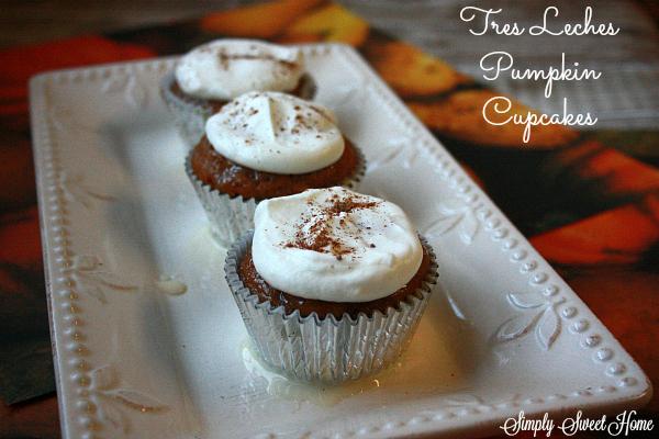 Tres Leches Pumpkin Cupcakes