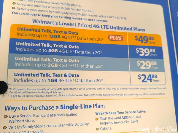 Walmart Mobile Plans
