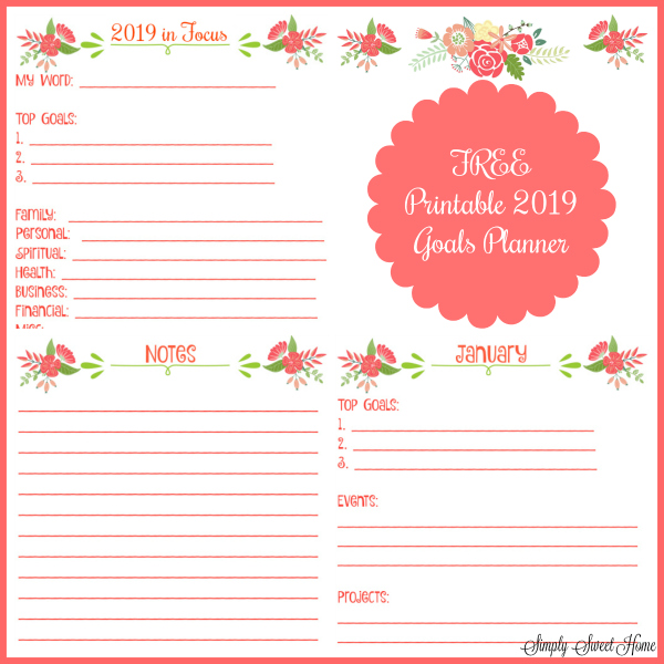 It's just a picture of Goals Printable pertaining to year