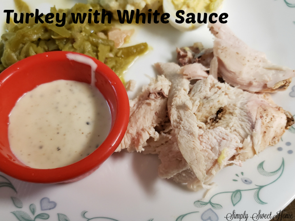Southern White Sauce for Turkey or Chicken