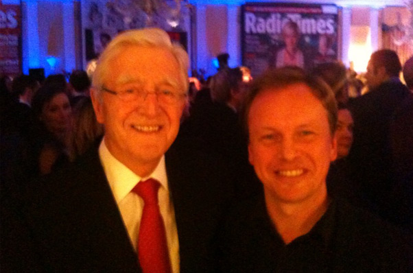 at Radio Times Awards at Claridges with Michael Parkinson