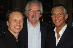 with Des Lynam and Gary Lineker