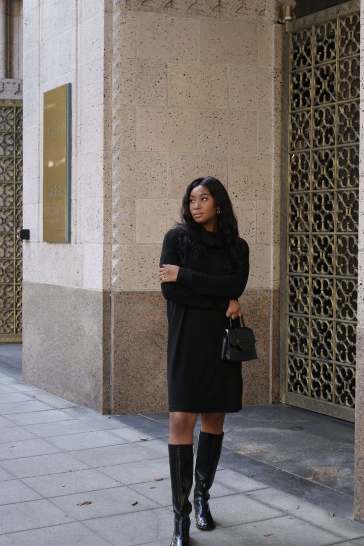 time and tru cowl neck dress
