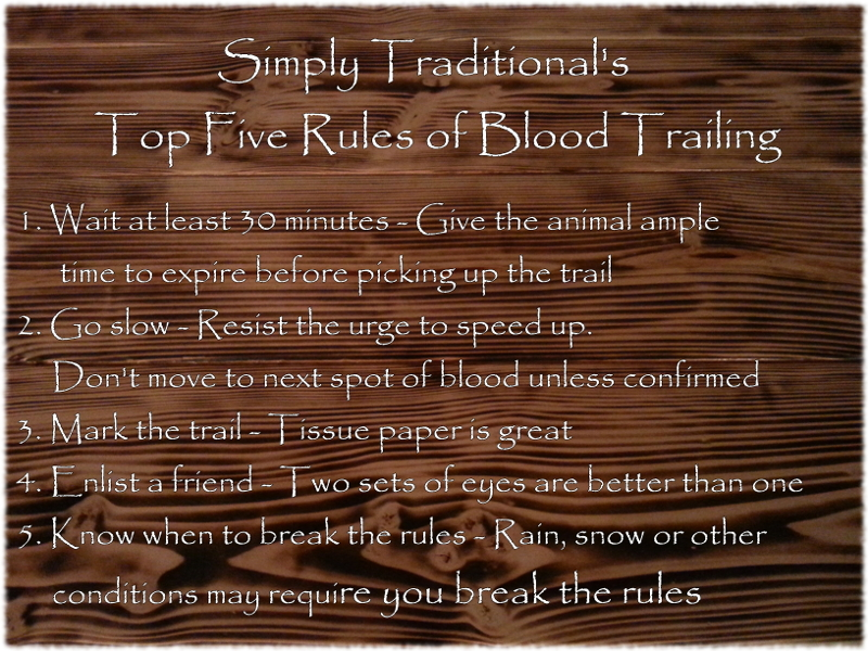 Top 5 Rules for Blood Trailing