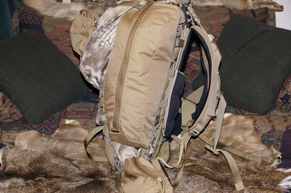 Side view of Kifaru pack