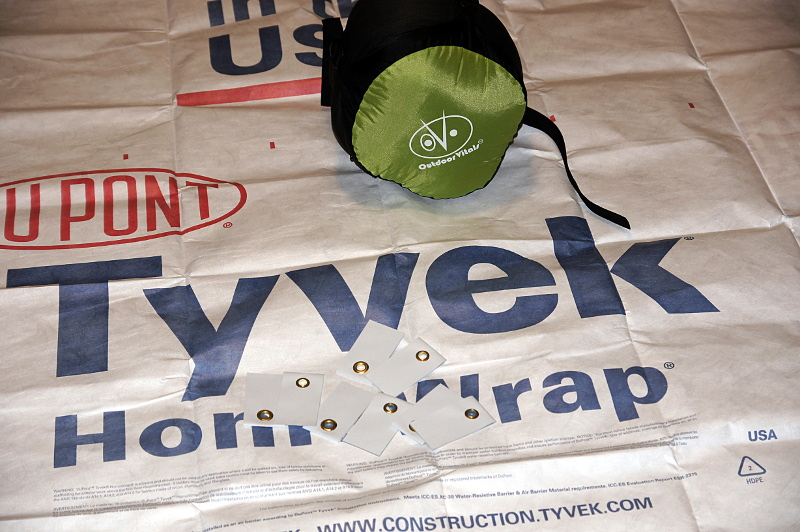 Tyvek, adhesive grommets and Outdoor Vitals Bag